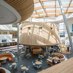 Interior architectural photography Shoreham Academy atrium image