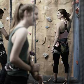 Commercial Photography High Sports Climbing Wall image