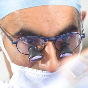 Surgeon in operating theatre image