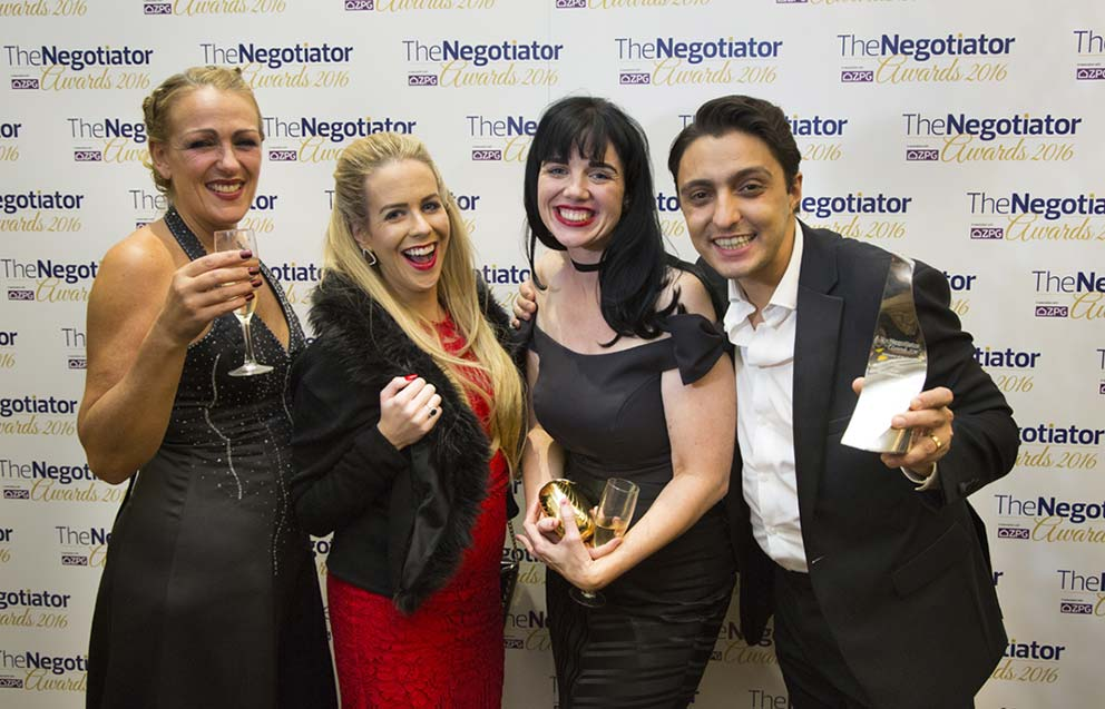 Event Photography The Negotiator Awards winners at the media board 2016