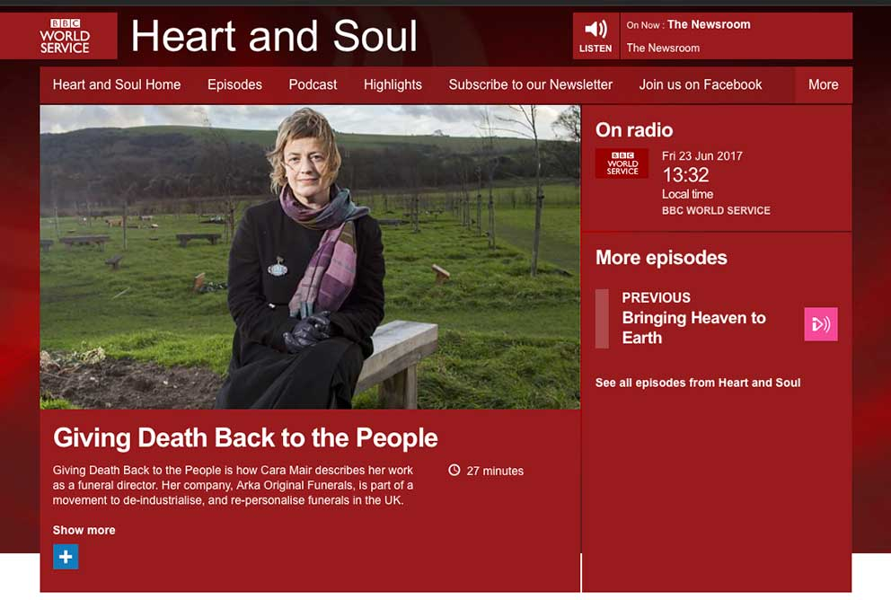 BBC Heart and sole article Giving death back to the people image