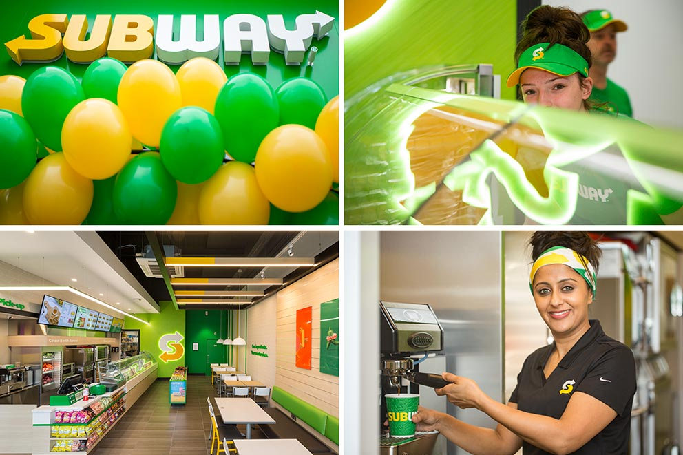 Subway fast food restaurant shop interior Exposure Photography architectural interior image