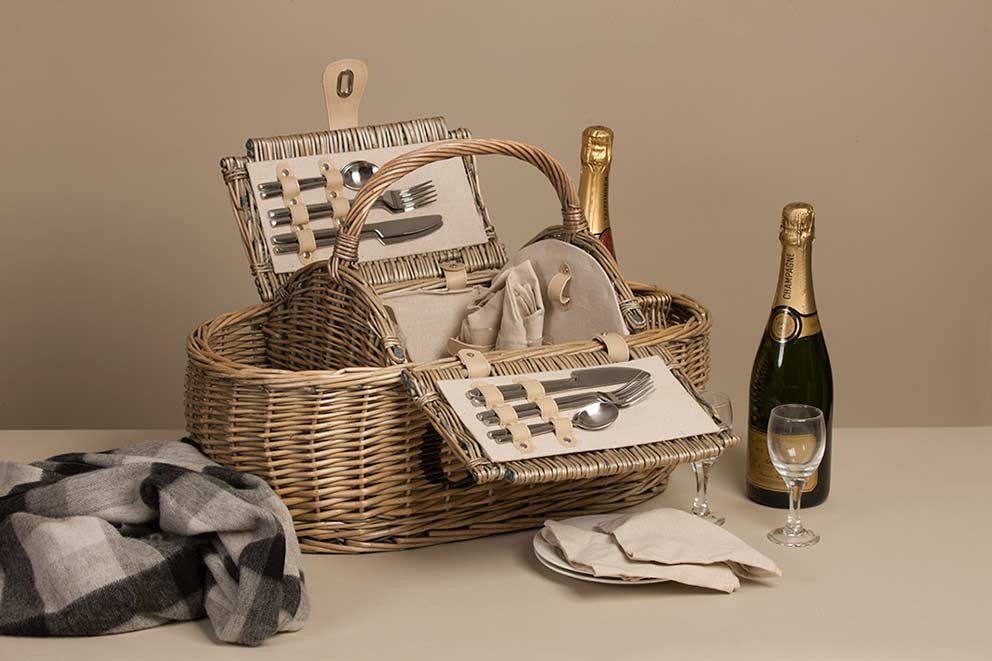 Product photography for Not on the High Street Glyndebourne picnic hamper image