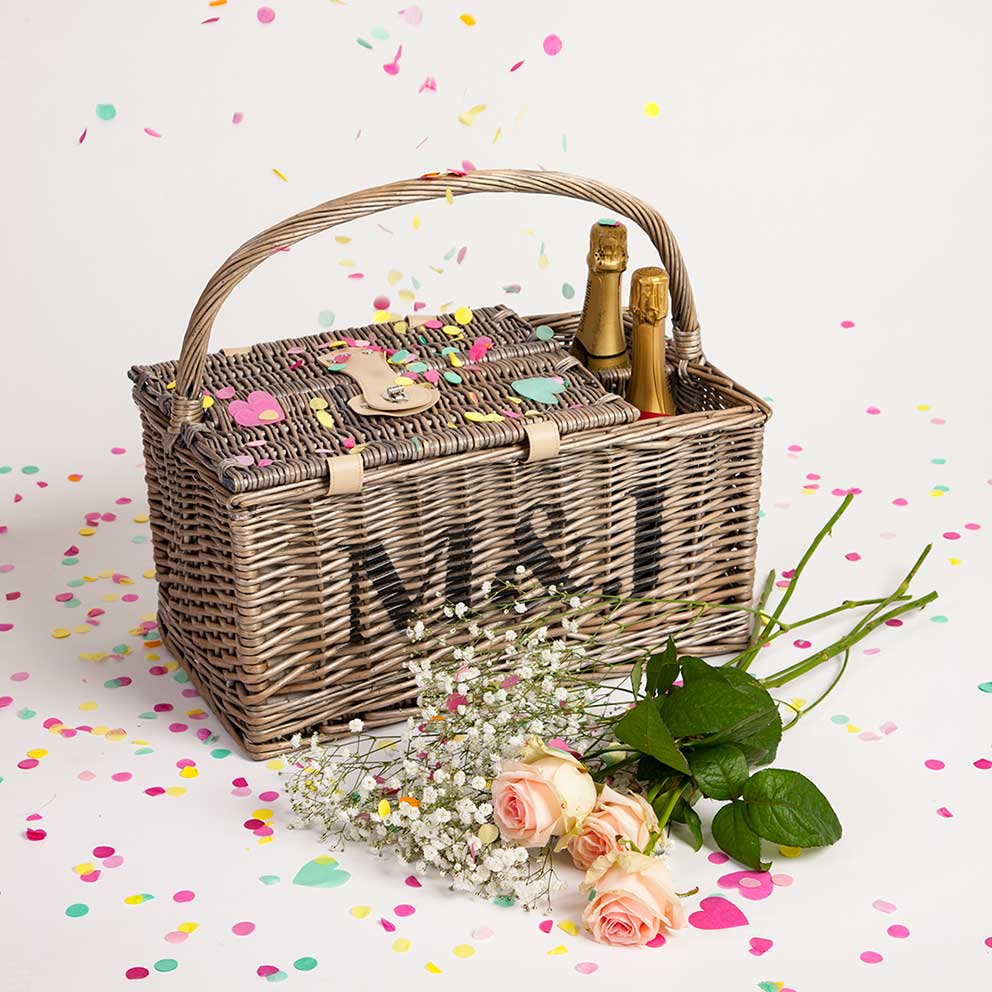Product photography for Not on the High Street Wedding picnic hamper image