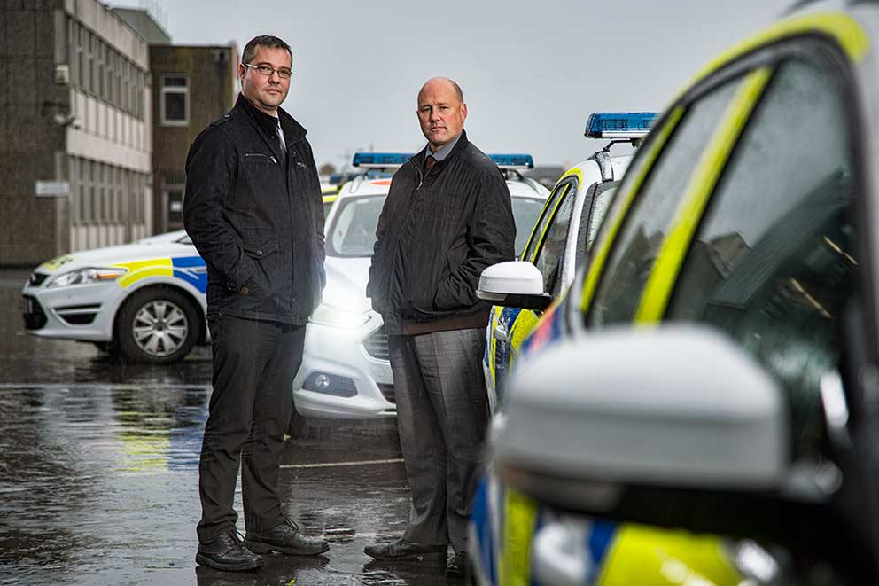 TV Show Photography ITV The Brighton Police portrait photography Sussex Police Station squad cars image