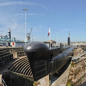 Panorama Submarine in Chatham Historic Dock image