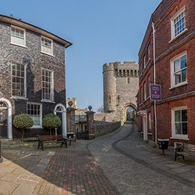 Lewes Castle and Barbican Panorama