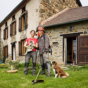 Steve and Bibi at their newly purchased Pyrenees mountainside home in France image